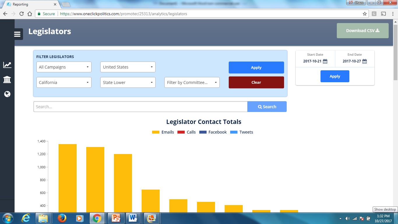Legislator Chart - Chazz Clevinger