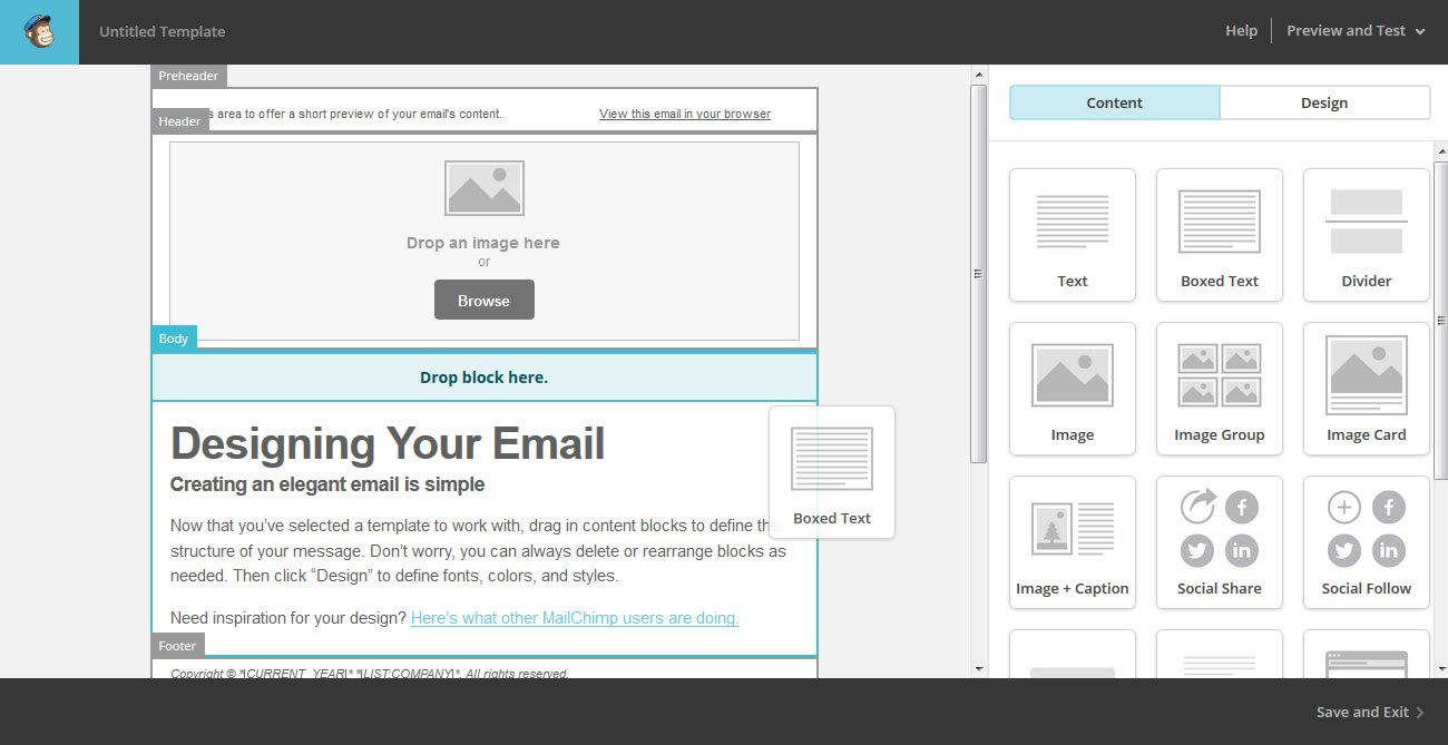 MailChimp-Editor-Drag-And-Drop - Tim Sarrantonio