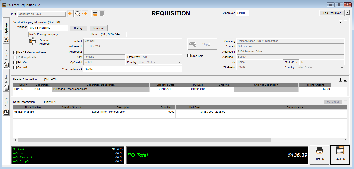 PO Requisitions - Brian Brethauer